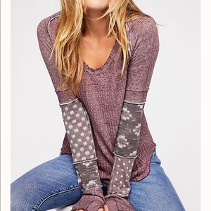 Free People patchwork thermal